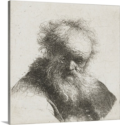 Old Man with Long Beard and White Shirt Sleeve, by Rembrandt van Rijn, 1630-34