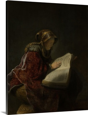 Old Woman Reading, Probably the Prophetess Hannah, by Rembrandt, 1631
