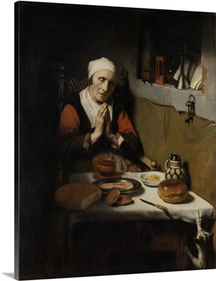 Old Woman Saying Grace, by Nicolaes Maes, 1656