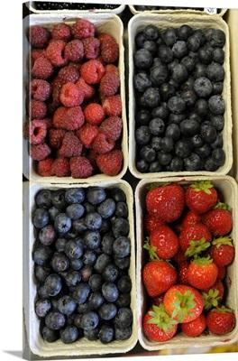 Organic, Blueberries, Strawberries And Raspberries