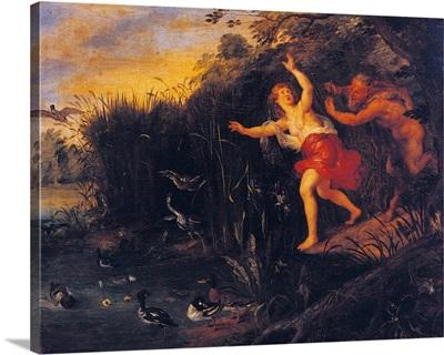 Pan And Syrinx, Copy From Peter Paul Rubens, 17Th C. Brera Art