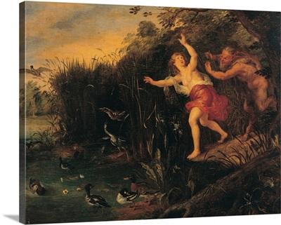 Pan and Syrinx, copy from Peter Paul Rubens, by Jan Bruegel the Elder, 17th c.