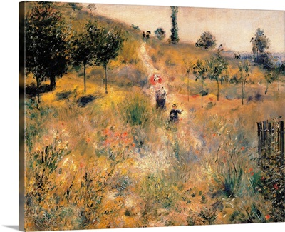 Pathway Through Tall Grass, by Pierre-Auguste Renoir, ca. 1875. Musee d'Orsay