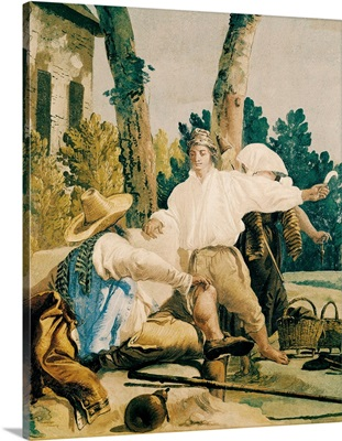 Peasants at Rest, Detail, 1757