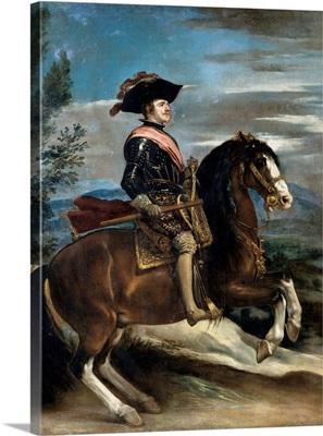 Philip IV on Horseback, by Diego Rodri?guez Velazquez, 1635. Palazzo Pitti, Florence