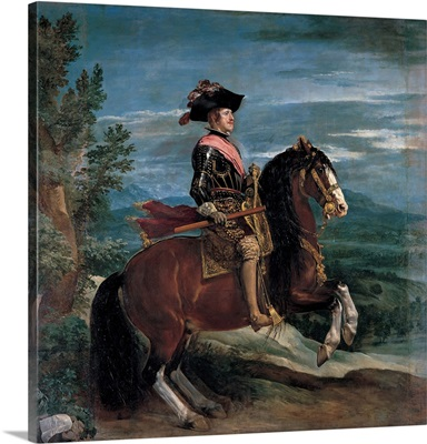 Philip IV on Horseback, by Diego Rodriguez Velazquez, 1635. Prado Museum, Madrid, Spain