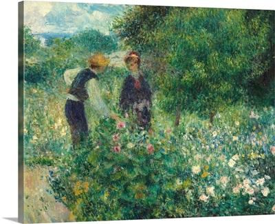 Picking Flowers, by Auguste Renoir, 1875