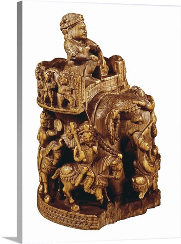 Piece of chess representing an elephant belonging to Charlemagne ...