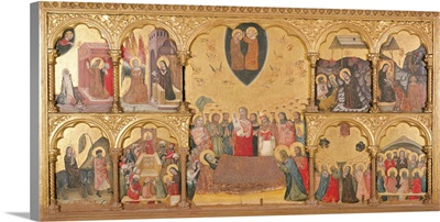 Polyptych Of The Domitio Virginis, By Pseudo Jacopino, C. 1330-1335. Bologna, Italy