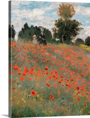 Poppy Field, By Claude Monet, 1873. Musee D'Orsay, Paris, France. Detail