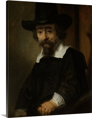 Portrait of a Man, thought to be Dr. Ephraim Bueno, by Rembrandt, 1645