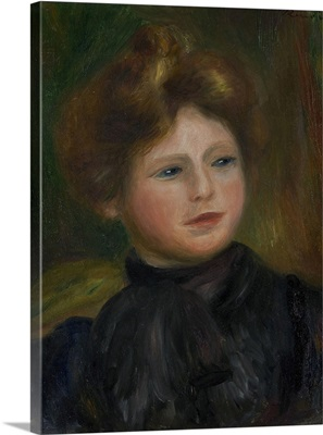 Portrait of a Woman, 1916, By French impressionist Pierre Auguste Renoir