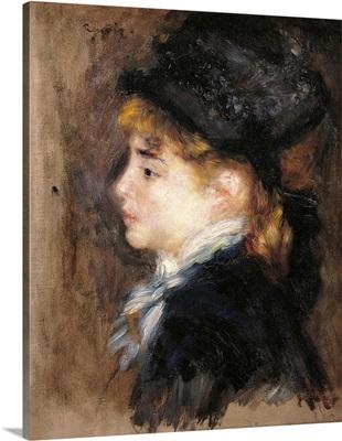 Portrait of a Woman, possibly Margot, by Pierre-Auguste Renoir, ca. 1876-1878