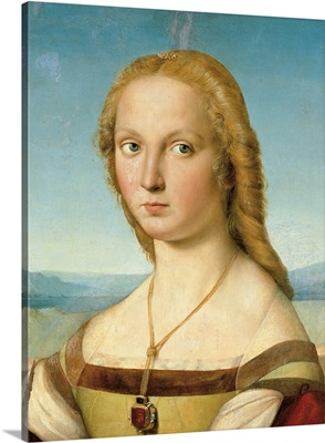 Portrait Of A Young Woman (Lady With A Unicorn), By Raphael, 1505-06.