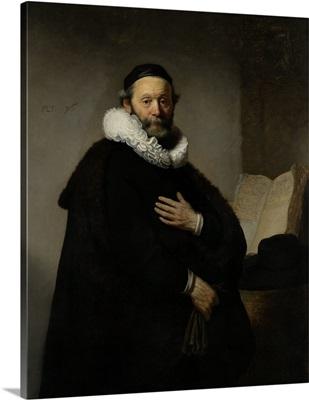 Portrait of Johannes Wtenbogaert, by Rembrandt van Rijn, 1633