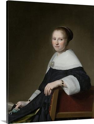 Portrait of Maria van Strijp, by Johannes Verspronck, 1652