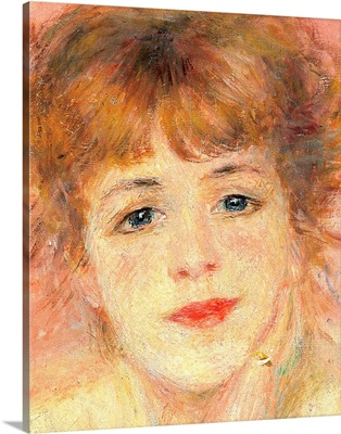 Portrait Of The Actress Jeanne Samary, By Pierre-Auguste Renoir, 1877.