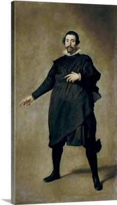 Portrait of the Buffoon Pablo de Valladolid. Diego Rodriguez de Silva Velazquez