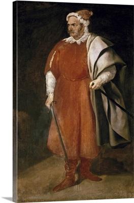 Portrait of the Buffoon Redbeard, Cristobal de Castaneda, 1635
