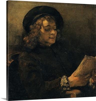 Portrait of Titus Reading, by Rembrandt, 1655-1657. Kunsthistorisches Museum, Vienna