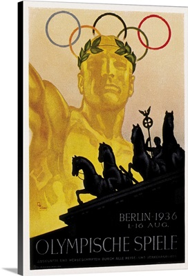 Poster for 1936 Berlin Olympic Games