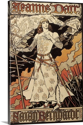 Poster, Joan of Arc by Sarah Bernhardt in the Renaissance Theater