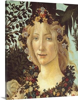 Primavera, Face Of Flora, By Botticelli, C. 1478, Uffizi Gallery, Florence, Italy