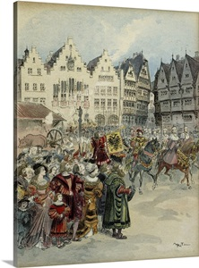 Procession Of The Seven Electors Of Holy Roman Empire In