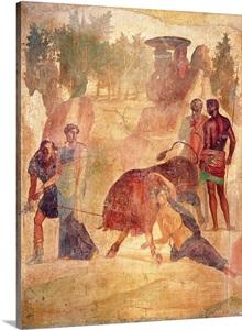 Punishment Of Dirce Ancient Roman Fresco C 40 Casa Del