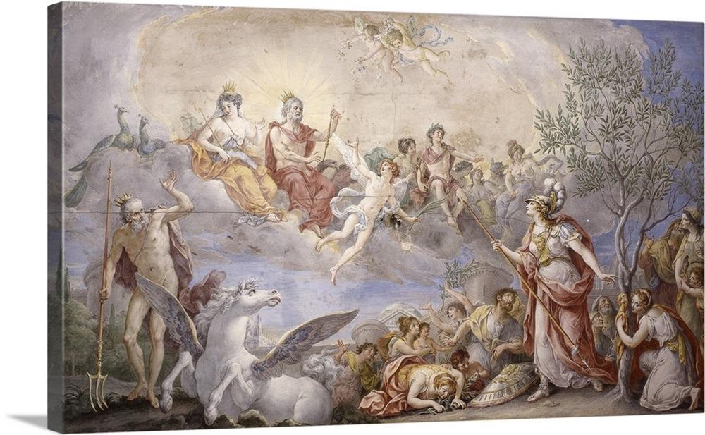Quarrel Between Athena And Poseidon By Giambattista