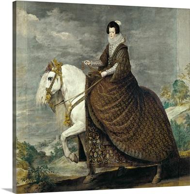 Queen Isabel de Bourbon, wife of Philip IV, on Horseback, 1635
