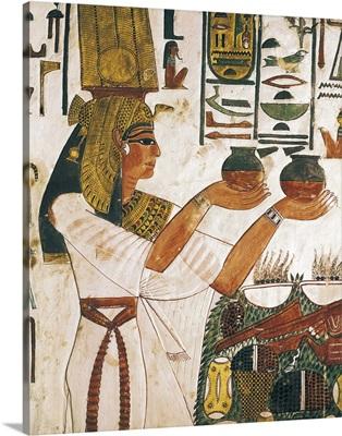 Queen Nefertari offering, Egyptian art