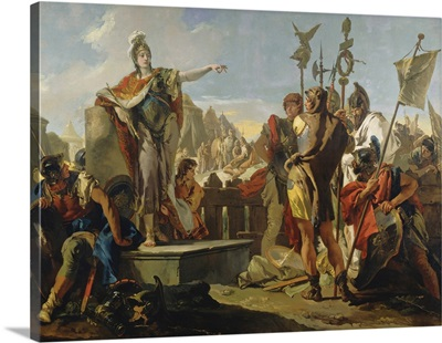 Queen Zenobia Addressing Her Soldiers, by Giovanni Battista Tiepolo