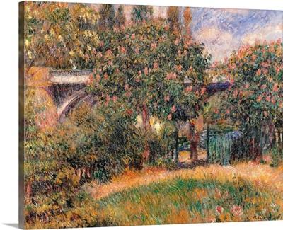 Railway Bridge at Chatou (Yvelines), by Pierre-Auguste Renoir, ca. 1881