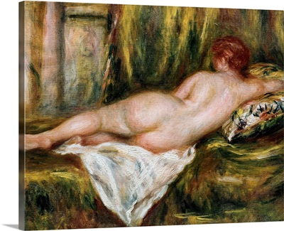 Reclining Nude from the Back, Rest after the Bath. Ca. 1909