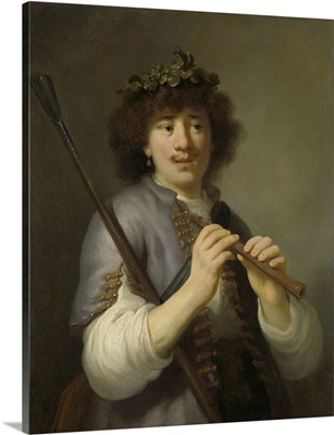 Rembrandt as Shepherd with Staff and Flute, Govert Flinck, 1636