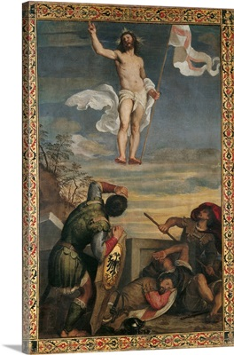 Resurrection Of Christ, By Titian, C. 1540-1544. National Gallery Of The Marche, Urbino