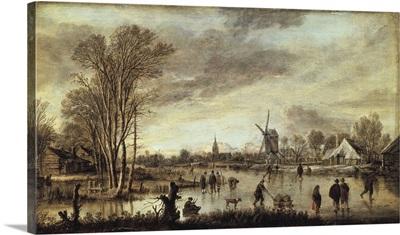 River in Winter. 1645. Aert van der Neer