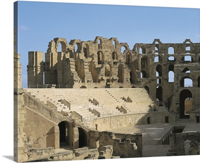 Roman Amphitheatre built in early 3rd century AD. El Djem, Tunisia