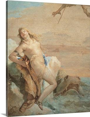 Ruggiero Saving Angelica, detail, by Giambattista Tiepolo, 1757. Vicenza, Italy