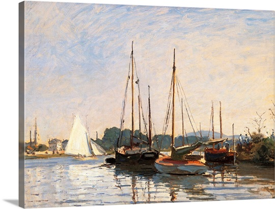 sailing boats at argenteuil by claude monet 1872 1873 musee d 39 orsay paris france wall art. Black Bedroom Furniture Sets. Home Design Ideas