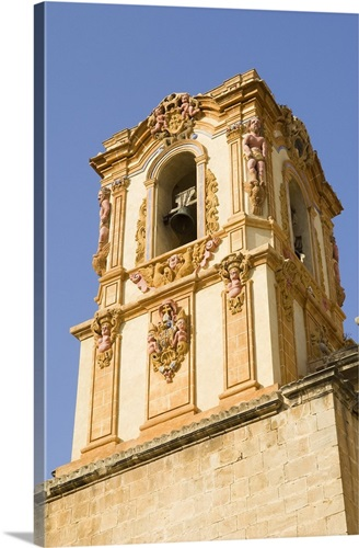 Saint Dominic\'s Diocesan School. Exterior Bell Tower. Baroque style ...