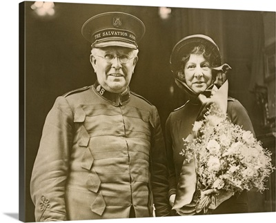 Salvation Army Commander Eva Booth and General Edward Higgins, Aug 17, 1934