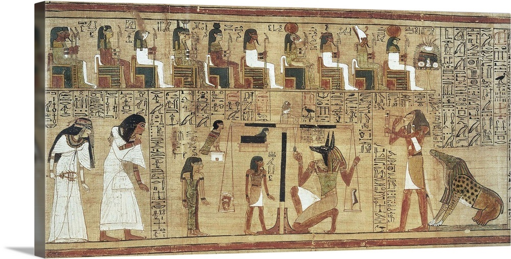Scene from the dead judgement before the presence of ...  Judgement Before Osiris