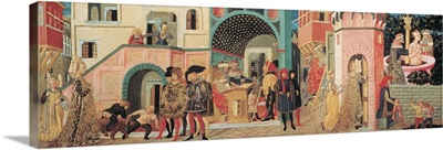Scenes From The Story Of Susanna, By Scheggia, C. 1450. Florence, Italy
