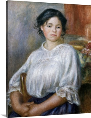 Seated Young Girl. Ca. 1909. By Pierre-Auguste Renoir. Orsay Museum