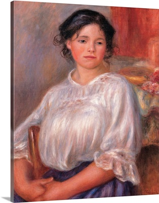 Seated Young Woman, by Pierre-Auguste Renoir, ca. 1909. Musee d'Orsay