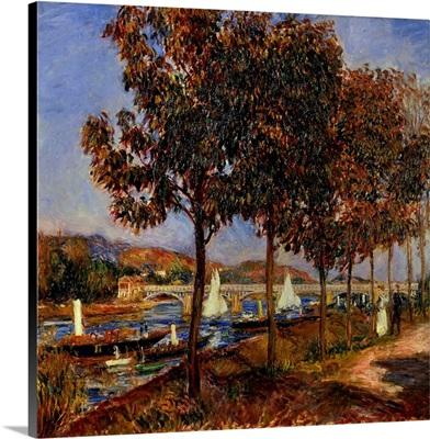 Seine, Bridge of Argenteuil, 19th c, By French impressionist Pierre-Auguste Renoir