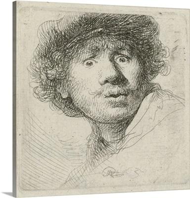 Self-Portrait with Beret, by Rembrandt van Rijn, 1630