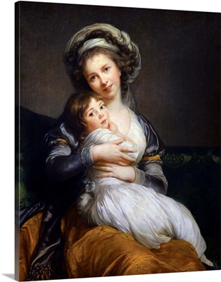 Self Portrait with her Daughter Jeanne Julie Louise, 1786, By Elisabeth Vigee Le Brun